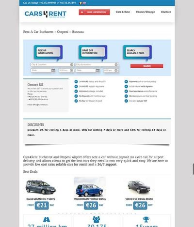Realizare site web cars4rent.ro