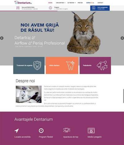 Realizare site web dentarium.ro