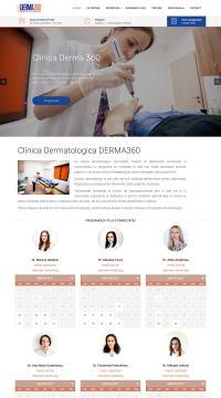 Agentie Web Design portofoliu client derma360.ro