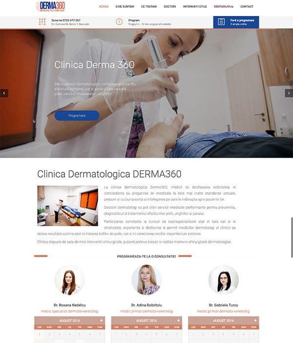 Realizare site web derma360.ro