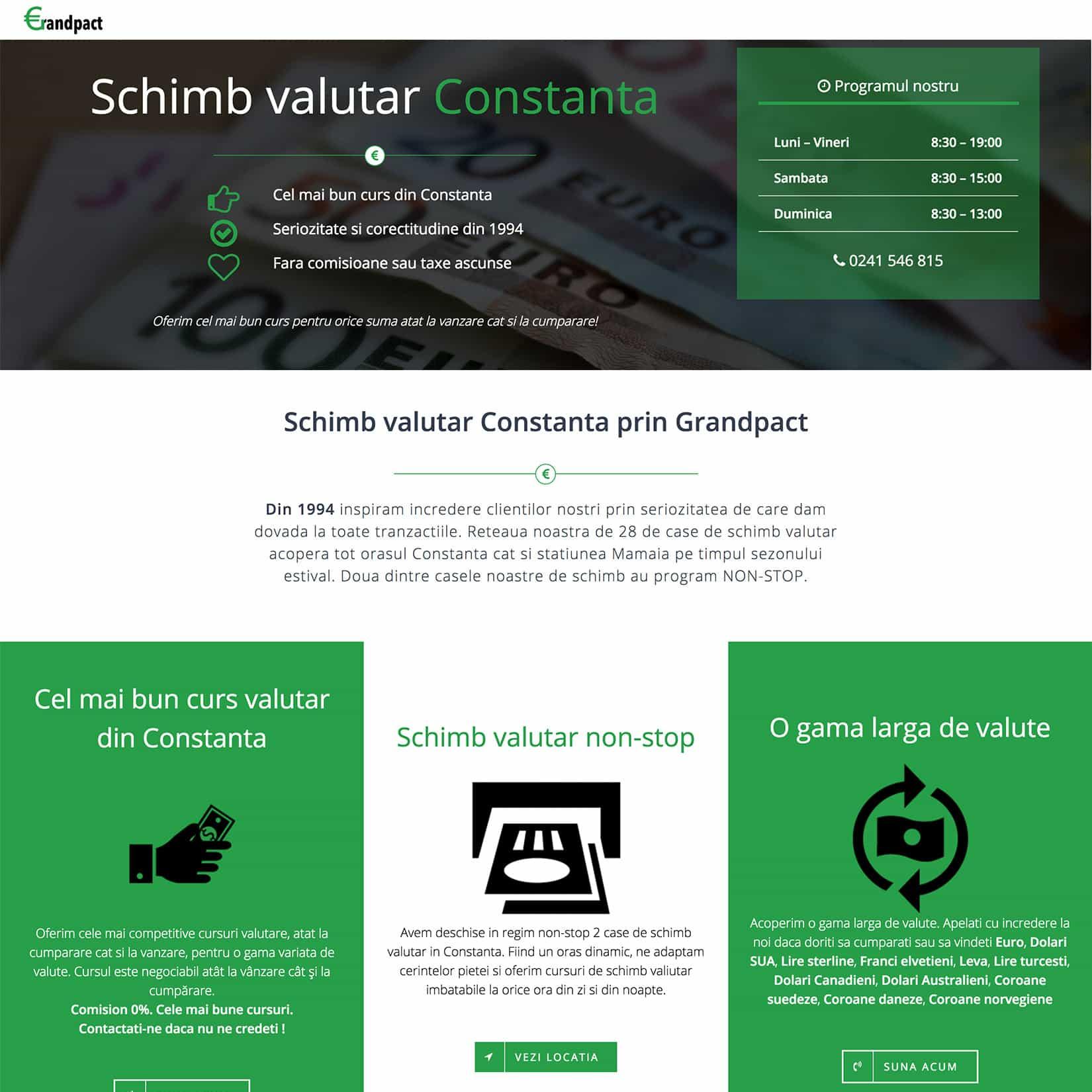 Agentie Web Design portofoliu client exchange-constanta.ro