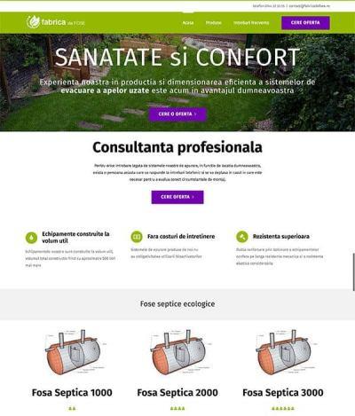 Realizare site web fabricadefose.ro