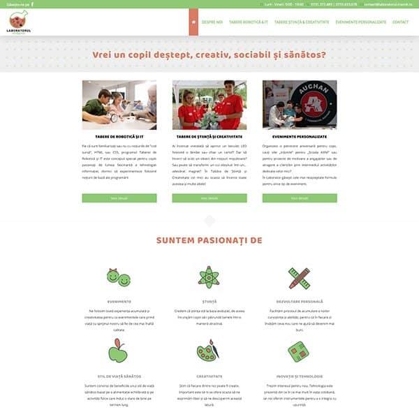 Realizare site web laboratorul-traznit.ro