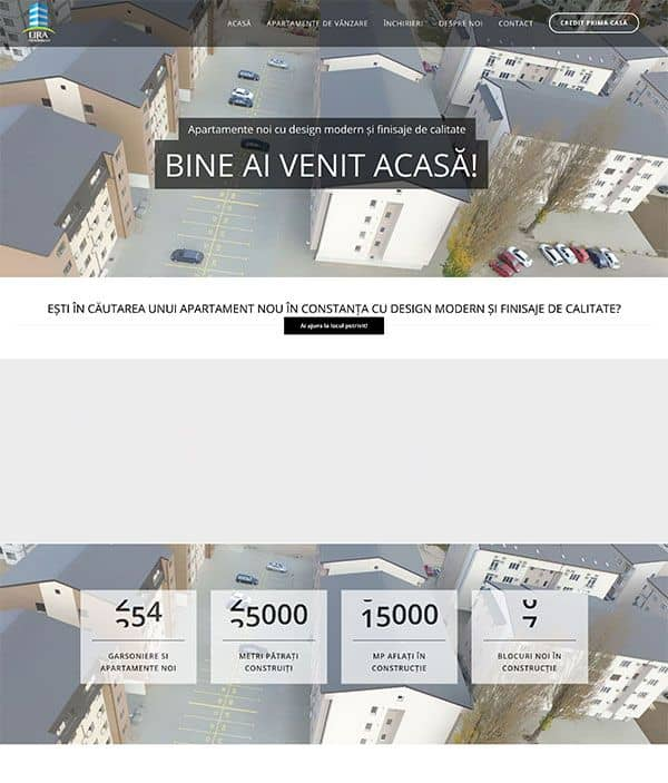 Realizare site web lira-residences.ro