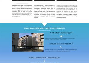 Agentie Web Design portofoliu client lira-residences.ro
