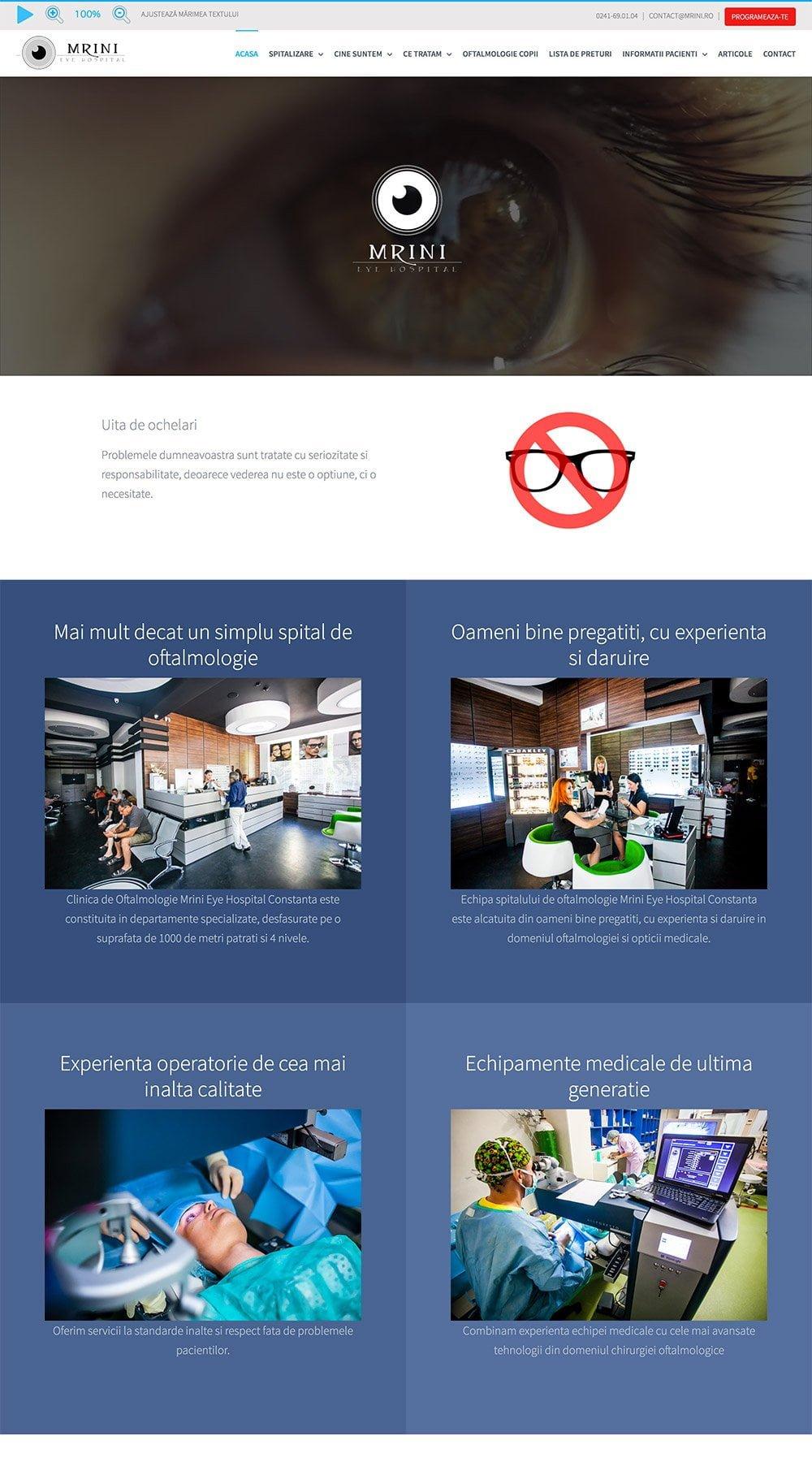 Agentie Web Design portofoliu client mrini.ro