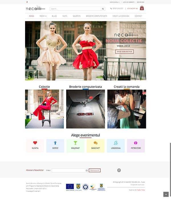 Creare magazin online necalli.ro