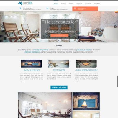Realizare site web salinlife.ro
