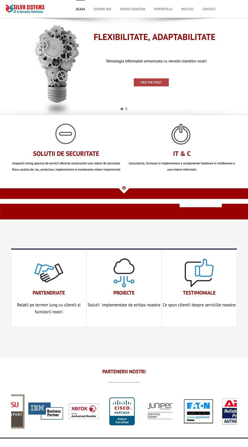 Agentie Web Design portofoliu client silvasistems.ro