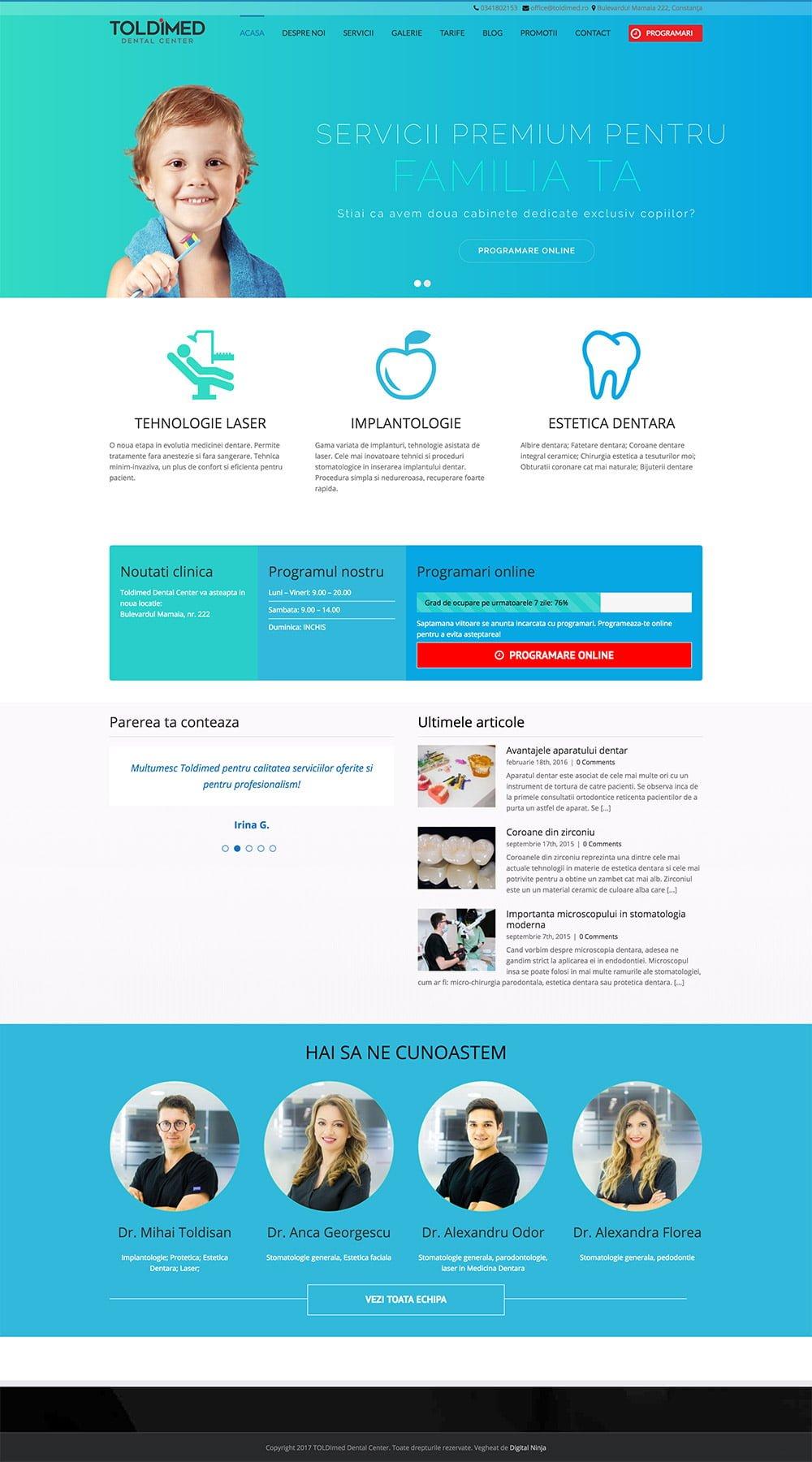 Agentie Web Design portofoliu client toldimed.ro