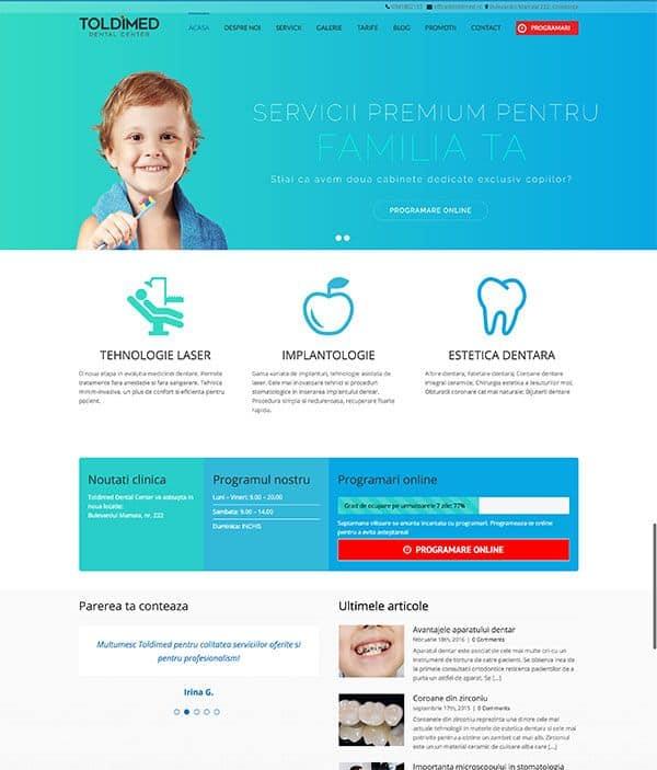 Realizare site web Toldimed.ro