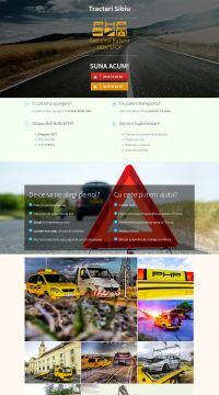 Agentie Web Design portofoliu client tractari-sibiu.eu